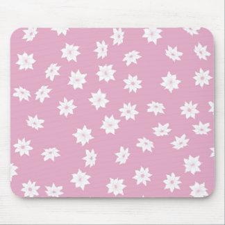 Rosa- och vitblommor musmatta