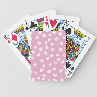 Rosa- och vitblommor spelkort