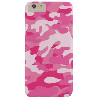Rosa- och vitCamo design Barely There iPhone 6 Plus Fodral