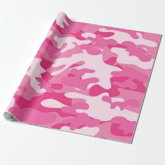 Rosa- och vitCamo design Presentpapper