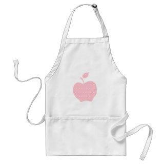 Rosa- och vitpolkaen pricker Apple Förkläde