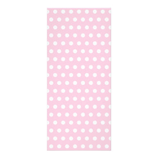 Rosa- och vitpolkaen pricker mönster. Spotty. Reklamkort