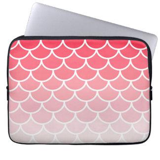 Rosa Ombre kammusslor Laptop Fodral