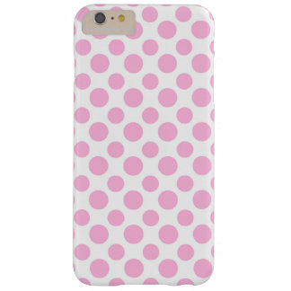 Rosa Ombre polka dots Barely There iPhone 6 Plus Skal