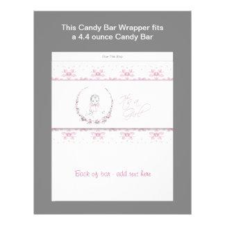 Rosa omslag för baby showergodispub custom flyer