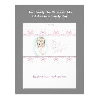 Rosa omslag för baby showergodispub reklamblad 21,5 x 30 cm