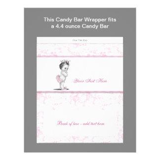 Rosa omslag för pub för Toile baby showergodis Reklamblad 21,5 X 30 Cm