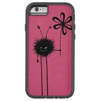 Rosa ont skyddande blommakryp tough xtreme iPhone 6 skal