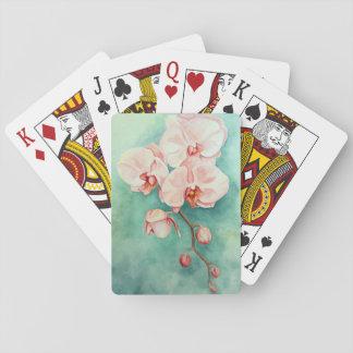 Rosa Orchid som leker kort Spelkort