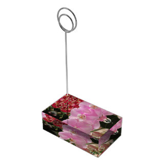 Rosa Orchidblom Bordskorthållare