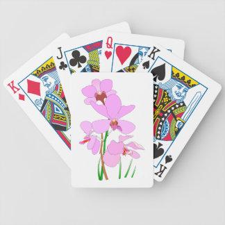 Rosa Orchidblommor Spelkort