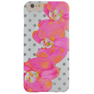 Rosa Orchids - polka dots Barely There iPhone 6 Plus Fodral