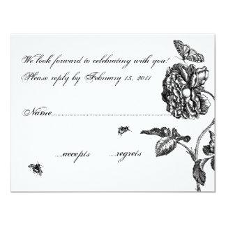 Rosa OSA för vintage 10,8 X 14 Cm Inbjudningskort