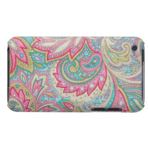 Rosa Paisley Barely There iPod Skyddande Skydd