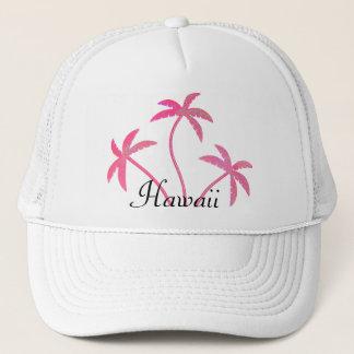 Rosa palmträd Hawaii Truckerkeps