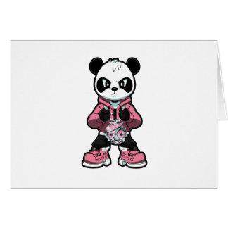 Rosa Panda Hälsningskort