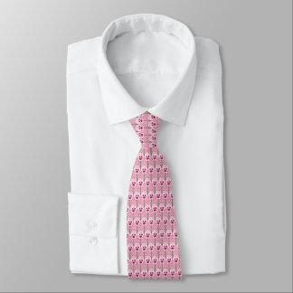 Rosa pansies för snäcka - retro tapetmönster slips