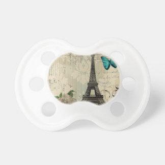 Rosa Paris Eiffel för kräm- damastast fjäril torn Barn Napp