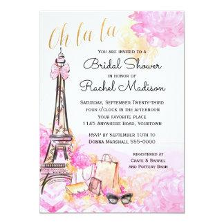 Rosa Parisian möhippa för vattenfärg 12,7 X 17,8 Cm Inbjudningskort