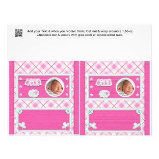 Rosa party favors för omslag för baby showergodisp custom flyer