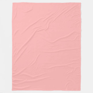 Rosa pastellfärgad fast färg fleecefilt