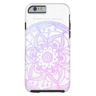 Rosa pastellfärgat Mandalafodral vid den Megaflora Tough iPhone 6 Case
