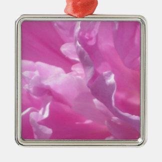 Rosa Petals, blommigt fotograferar Julgransprydnad Metall
