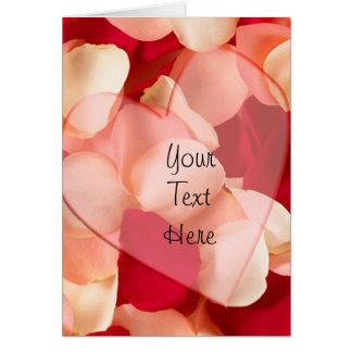 Rosa Petals Hälsningskort