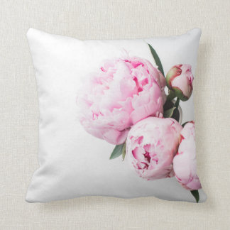 Rosa pionblomma kudde