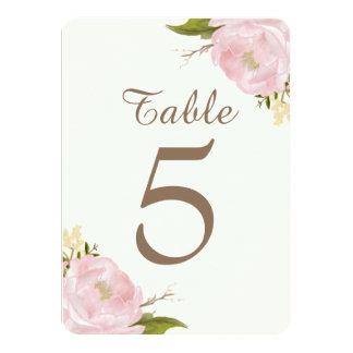 Rosa pioner för vintage som gifta sig 11,4 x 15,9 cm inbjudningskort