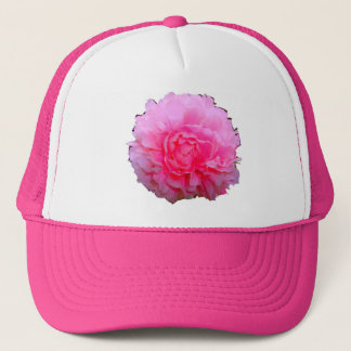Rosa pionhatt för damer truckerkeps