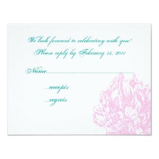 Rosa pionOSA 10,8 X 14 Cm Inbjudningskort