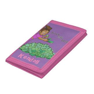 Rosa plånbok för svart flickachef som skräddarsy