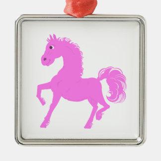 Rosa ponnyprodukter julgransprydnad metall