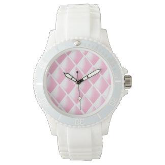 Rosa pop av diamanter armbandsur
