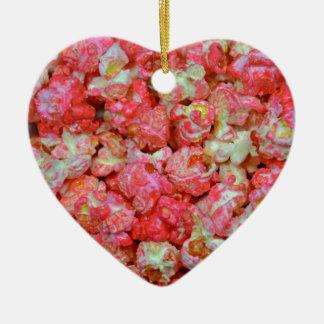 Rosa popcorn julgransprydnad keramik