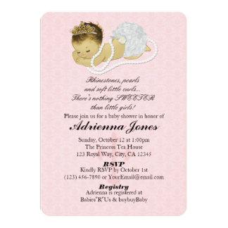 ROSA Princess 147 för flickaduschinbjudningar 12,7 X 17,8 Cm Inbjudningskort