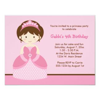 Rosa Princess födelsedagsfest inbjudan