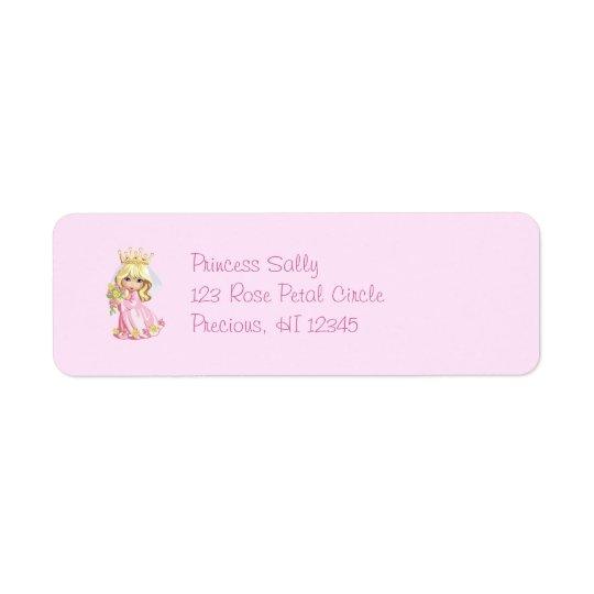Rosa Princess Personifiera Returadress Etikett