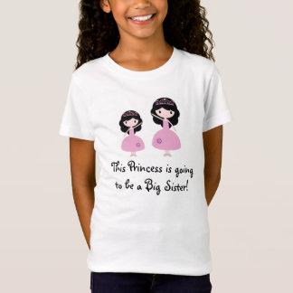 Rosa Princess storasyster - svart hår Tee Shirt