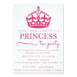 Rosa Princess Tea Festa Födelsedag Inbjudan