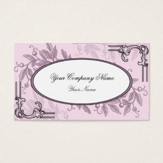Rosa purpurfärgad blom- affär för vintage visitkort
