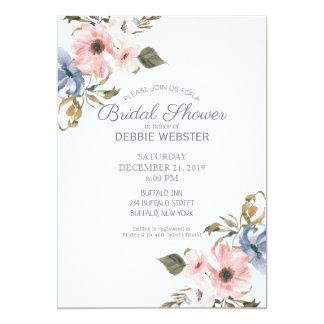 Rosa purpurfärgad gifta sig möhippa för 12,7 x 17,8 cm inbjudningskort