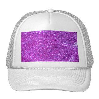 Rosa purpurfärgad Sparkly Glam glitterformgivare Keps