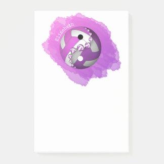 rosa purpurfärgad yin och yang volleyboll henne post-it block