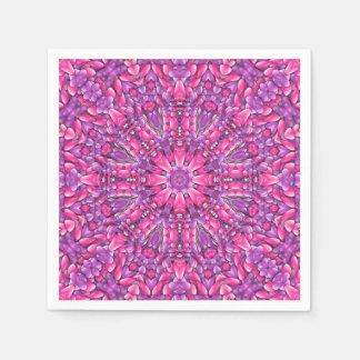 Rosa purpurfärgade coctailservetter för n servett