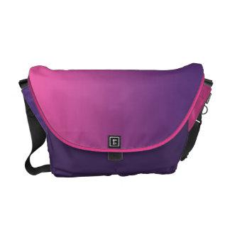 Rosa & purpurfärgade Ombre Messenger Bag