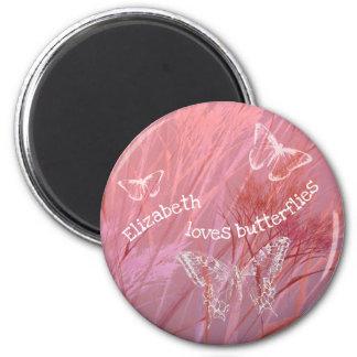 rosa purpurfärgat beställnings- flicka älskar hon magnet