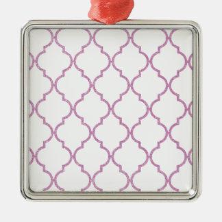 Rosa Quatrefoil för elegant flickaktigt mönster Julgransprydnad Metall