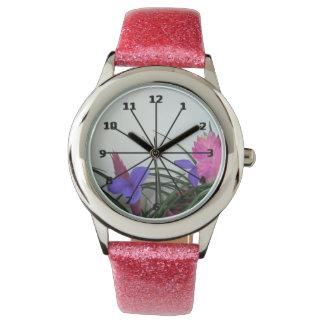 Rosa Quillglitterklocka Armbandsur